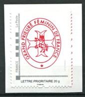 103 FRANCE 2019 - Grand Prieure Feminin Franc Maconnerie Freemasonry Freimaurerei - Neuf (MNH) Sans Trace De Charniere - Franc-Maçonnerie