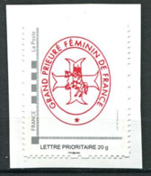 103 FRANCE 2019 - Grand Prieure Feminin - Franc Maconnerie Freemasonry Freimaurerei - Neuf (MNH) Sans Trace De Charniere - Freimaurerei