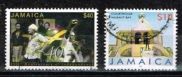 Jamaika 2002/06,Michel# 1003 + 1106 I O  40th Anniversary Of Jamaica's Independence/Court House, Morant Bay - Jamaica (1962-...)