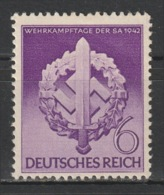 GERMANY - 1942 - ( War Effort Day Of The Storm Troopers ) - MNH** - Duitsland
