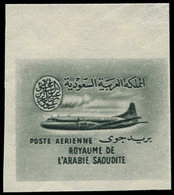 ** ARABIE SAOUD. NEDJED - Poste Aérienne - 25, Non Dentelé Sans La Couleur Du Cadre (jaune Brun): 6p. Avion - Arabia Saudita