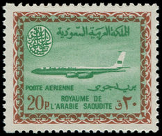 ** ARABIE SAOUD. NEDJED - Poste Aérienne - 50, Cartouche Saoud: 20p. Boeing 720B - Saudi-Arabien