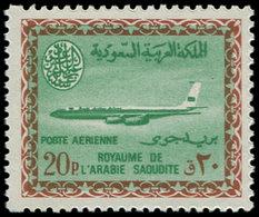 ** ARABIE SAOUD. NEDJED - Poste Aérienne - 50, Cartouche Saoud: 20p. Boeing 720B - Arabia Saudita