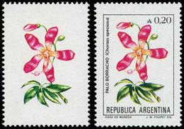 ** ARGENTINE - Poste - 1476, Sans Impression Du Noir (cadre, Pays, Faciale): 20c. Fleur Choriasa (+ Normal) - Sin Clasificación