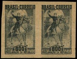 (*) BRESIL - Poste - 358, Paires Non Dentelée Sur Papier Chamois: 800r. Noir Fonseca - Brazil