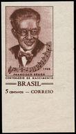 ** BRESIL - Poste - 876, Non Dentelé, Cdf: 5c. F. Braga, Compositeur - Brazil