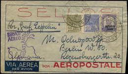 BRESIL - 1° Vols - Yvert Pa. 29 + Divers Sur Enveloppe 28/1/32, Cachet Spécial Violet Arrivée Friedrichshafen 8/2/32 Zep - Brazil