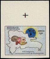 ** DOMINICAINE - Poste - 1060, Non Dentelé (tirage 200), Cdf: Diabète - Dominikanische Rep.