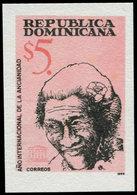 ** DOMINICAINE - Poste - Michel 1974, Non Dentelé, Bdf (tirage 200): Pour La Vieillesse - Dominikanische Rep.