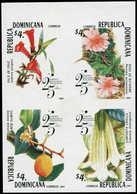** DOMINICAINE - Poste - Michel 2036/9, Bloc De 4 Non Dentelé Bdf (tirage 100): Flores & Fruits - Dominikanische Rep.
