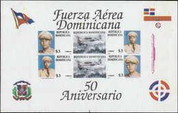 ** DOMINICAINE - Blocs Feuillets - 47, Non Dentelé, (tirage 100): Forces Aériennes - Dominikanische Rep.