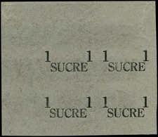 ESS EQUATEUR - Poste Aérienne - 279, Bloc De 4, Surcharge Seule, Type Non Adopté, (Grands Caractères), Sur Papier De Soi - Ecuador