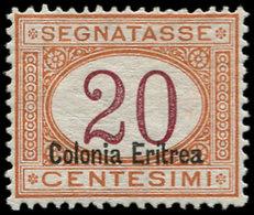 * ERYTHREE - Taxe - 7II, Surcharge En Bas: 20c. Orange (Sas. 16) - Eritrea