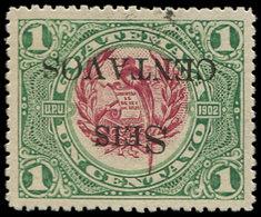 * GUATEMALA - Poste - 157, Surcharge Renversée: 6c. S. 1c. Quetzal - Guatemala