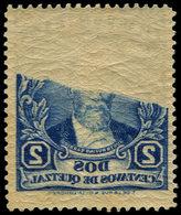 ** GUATEMALA - Poste - 233, Recto-verso Sur La Moitié Du Timbre, Spectaculaire: 2c. Bleu - Guatemala