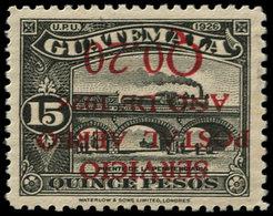 * GUATEMALA - Poste Aérienne - 4, Surcharge Renversée (tirage 100), Certificat Philatélique Foundation: 0.20c. S. 15p. N - Guatemala