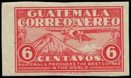** GUATEMALA - Poste Aérienne - 6, Non Dentelé, Bdf: 6c. Rose - Guatemala
