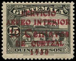 * GUATEMALA - Poste Aérienne - 11, Double Surcharge, Signé: 10c. S. 15p. Noir - Guatemala