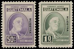 """* GUATEMALA - Poste Aérienne - 157/8, Surcharge Noire """"muestra"""", (tirage 80), Les Autres Valeurs N'existent Pas: 50c. Et - Guatemala"""