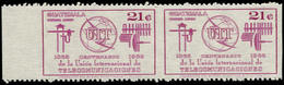 ** GUATEMALA - Poste Aérienne - 433, Paire Horizontale, Non Dentelée Verticalement, (6 Existent): 21c. Uit - Guatemala