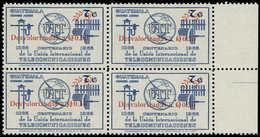 ** GUATEMALA - Poste Aérienne - 525A, Non émis Surcharge Rouge Sur Yvert Pa. 431, (tirage 1 Feuille De 30): 0,50c/7q. Bl - Guatemala