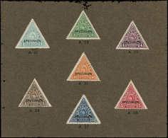"""SPE GUATEMALA - Service - 66/72, Sur Carton De L'imprimeur Avec N° De Références, Surchargés """"specimen"""" - Guatemala"""