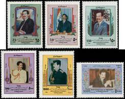** IRAK - Poste - 1427A/F, Tirage Spécial Sur Papier Glacé: S. Hussein (Michel 1596/1601) - Irak