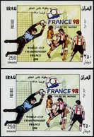 ** IRAK - Blocs Feuillets - 69, Variété De La Couleur, (+ Normal): Football - France 98 (Michel 80) - Irak