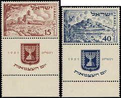 ** ISRAEL - Poste - 43/44, Tabs Complets: 3° An De L'état - Israel