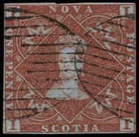 O NOUVELLE ECOSSE - Poste - 1, Bel Exemplaire, Marge Complète: 1p Brun Rouge - Nova Scotia