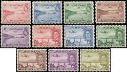 * PAPOUASIE - Poste Aérienne - 5/15, Complet 11 Valeurs: George VI - Papouasie-Nouvelle-Guinée