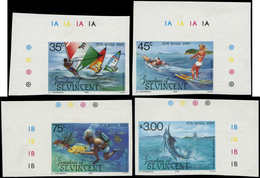 ** SAINT VINCENT GRENA. - Poste - 408/11, Non Dentelés, Cdf: Sports Nautiques - St.Vincent Y Las Granadinas