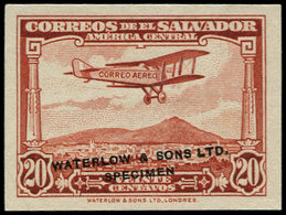 "(*) SALVADOR - Poste Aérienne - 7, Non émis: 20c. Brun, Surcharge ""Waterlow Specimen"" - El Salvador"
