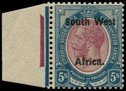 ** SUD OUEST AFRICAIN - Poste - 10, écartement 11.5mm, Bdf, Superbe: 5/- George V - South West Africa (1923-1990)