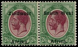 * SUD OUEST AFRICAIN - Poste - 44a + 55a, Paire Se Tenant, écartement 15mm: 2/6 George V - South West Africa (1923-1990)