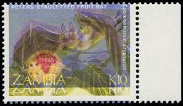 ** ZAMBIE - Poste - 464, Couleur Totalement Décalée: 10k. Chauve-souris - Zambie (1965-...)