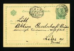 Bosnia Postal Stationary Card ZUG SARAJEVO BROD 1901  VF USED - Bosnië En Herzegovina