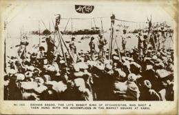 Afghanistan, KABUL, Excecution Bandit King Habibullah Kalkani, Bachha Sakoo 1929 - Afghanistan