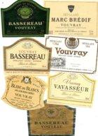 7 étiquettes Vins De Vouvray Années 90. - White Wines