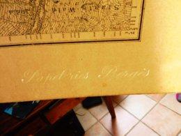 1886 Rare Carte De LAUTENBACH Filigrane PAPETERIE BERGES Suite Annexion ALSACE Par L'ALLEMAGNE (Hors-Tout = 64cm X 57cm) - Mapas Topográficas