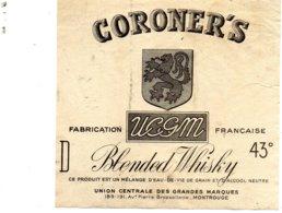 Etiquette De Whisky Coroner's Années 50. - Whisky