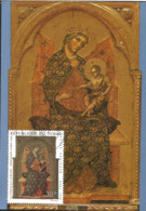 J) 1970 REPUBLIC OF CHAD, THE VIRGIN AND THE CHILD, PAINTING, POSTCARD - Chad (1960-...)