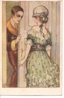 Illustrateur Briarée  FEMMME A LA PORTE D'UN HOMME Idylle Idillio  Carte Italie, Charme - Künstlerkarten
