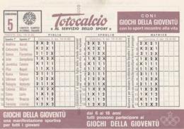 SCHEDINA TOTOCALCIO - CONCORSO 5 - COMITATO OLIMPICO NAZIONALE ITALIANO -  ANNO. 1982 - Vecchi Documenti