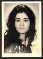 Pretty Long Hair Girl Woman Portrait Old Photo 6x9 Cm #29299 - Personnes Anonymes