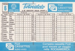 SCHEDINA TOTOCALCIO - CONCORSO 6 - COMITATO OLIMPICO NAZIONALE ITALIANO -  ANNO. 1982 - Vecchi Documenti