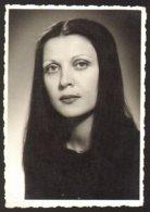 Pretty Long Hair Girl Woman Portrait Old Photo 7x10 Cm #29303 - Personnes Anonymes