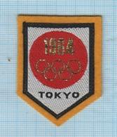 JAPAN  / Vintage Patch Abzeichen Parche Ecusson / Olympics. Summer Olympic Games. Tokyo 1964. - Ecussons Tissu