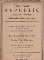 GIORNALI RIVISTA THE NEW REPUBLIC PUBLISHED WEEKLY 1923 - Autres