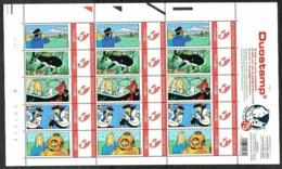 Belgium**TINTIN-SHARK SUBMARINE-Rare SHEET 15 Duostamps-COMICS-2004-U-BOOT - Comics